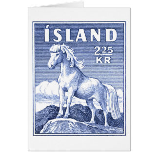 1958 Icelandic Horse Postage Stamp Card