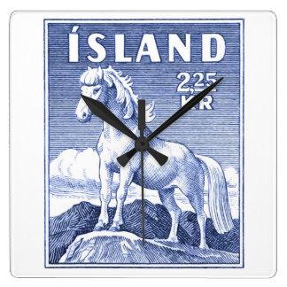 1958 Icelandic Horse Postage Stamp Clocks
