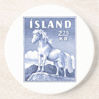 1958 Icelandic Horse Postage Stamp Coasters