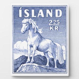 1958 Icelandic Horse Postage Stamp Display Plaque