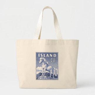 1958 Icelandic Horse Postage Stamp Large Tote Bag