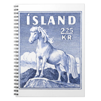 1958 Icelandic Horse Postage Stamp Note Book