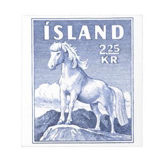 1958 Icelandic Horse Postage Stamp Notepad