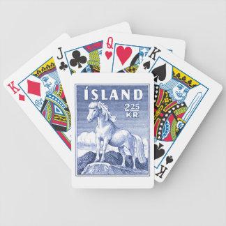 1958 Icelandic Horse Postage Stamp Poker Deck