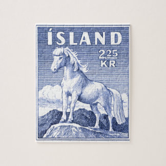 1958 Icelandic Horse Postage Stamp Puzzles