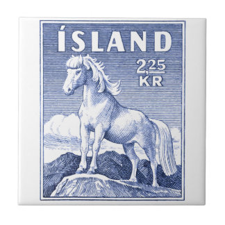 1958 Icelandic Horse Postage Stamp Small Square Tile
