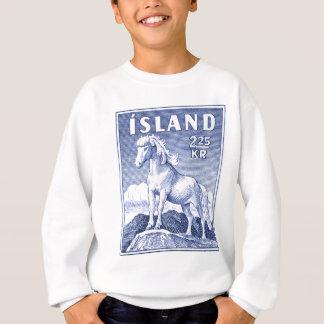 1958 Icelandic Horse Postage Stamp Sweatshirt