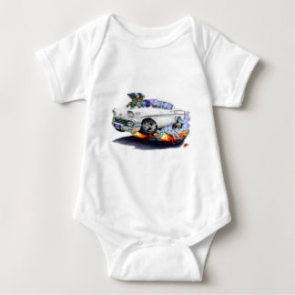 1958 Impala White Car Baby Bodysuit