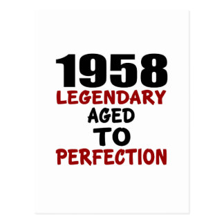1958 LEGENDARY AGED TO PERFECTION POSTCARD