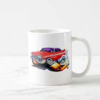 1958 Plymouth Fury Red Car Coffee Mug
