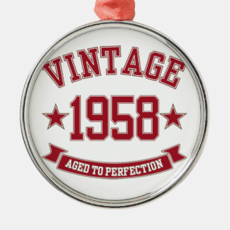 1958 Vintage Aged to Perfection Christmas Tree Ornaments
