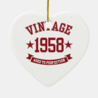 1958 Vintage Aged to Perfection Christmas Ornament