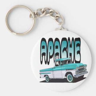 1959 Apache Basic Round Button Key Ring