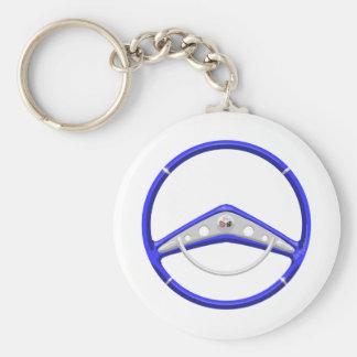 1959 Blue Chevrolet Steering Wheel Key Ring