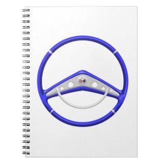 1959 Blue Chevrolet Steering Wheel Notebook