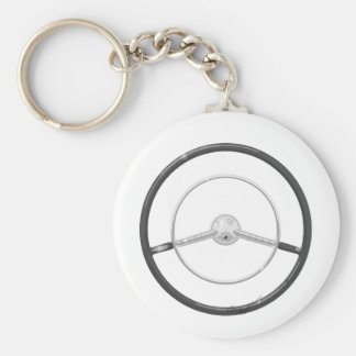 1959 Buick Steering Wheel Basic Round Button Key Ring