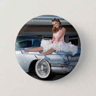 1959 Caddy Cadillac Princess Pin Up Car Girl