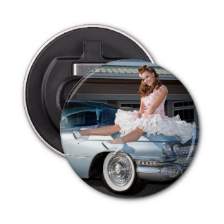 1959 Caddy Cadillac Princess Pin Up Car Girl Bottle Opener