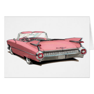1959 Cadillac Pink Car Card
