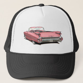 1959 Cadillac Pink Car Trucker Hat