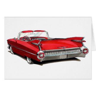 1959 Cadillac Red Car Card