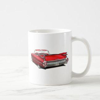 1959 Cadillac Red Car Coffee Mug