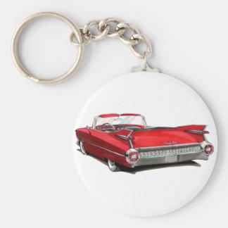 1959 Cadillac Red Car Key Ring