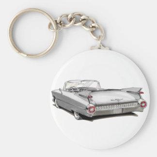 1959 Cadillac White Car Key Ring