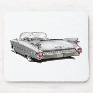 1959 Cadillac White Car Mouse Pad