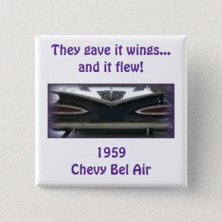 1959 Chevy Bel Air 15 Cm Square Badge
