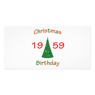 1959 Christmas Birthday Personalized Photo Card