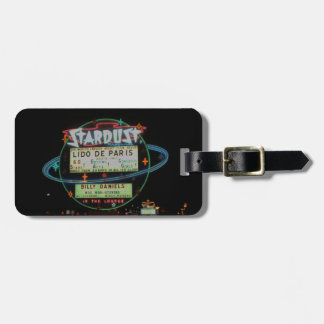 1959 Las Vegas Stardust Casino Hotel Neon Sign Luggage Tag