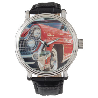 1959 Lincoln Continental Vintage Leather Strap Watch