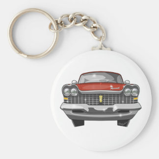 1959 Plymouth Fury Basic Round Button Key Ring