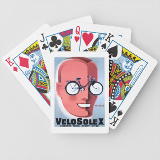 1959 Solex Powered Bicycle Advertising Poster Bicycle Playing Cards