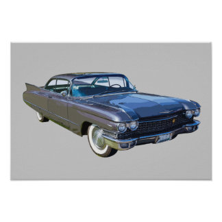 1960 Cadillac Luxury Car Poster