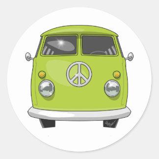 1960 Hippie Van Classic Round Sticker