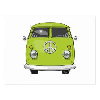 1960 Hippie Van Postcard