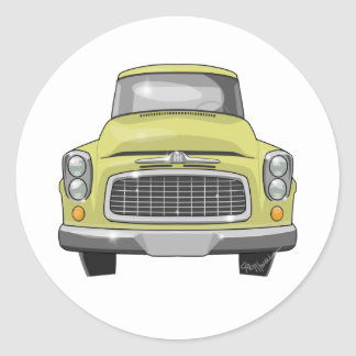 1960 International Pickup Classic Round Sticker