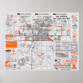 1960 Las Vegas Area Map Poster