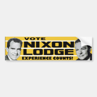 1960 Nixon Lodge Experience Counts Bumper Sticker