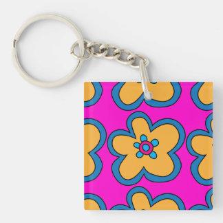1960 Pop Art Flower / Peace Sign 2-Sided Keychain