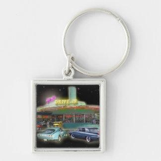 1960 Retro Mel's Diner Premium Key Chain