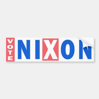 1960 Vote Nixon Vintage Bumper Sticker