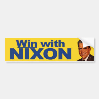 1960 Win With Nixon Vintage Bumper Sticker