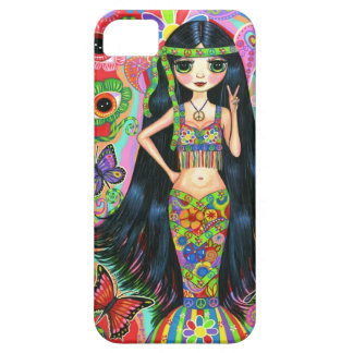1960s, 1970s Psychedelic Hippie Mermaid Girl iPhone 5 Case