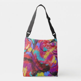 1960's Abstract All-Over-Print Cross Body Bag. Crossbody Bag