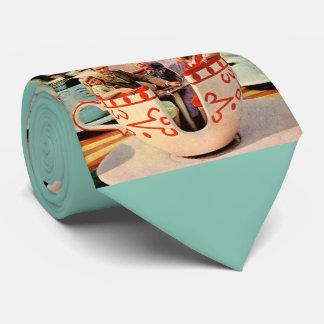 1960s amusement park teacup ride novelty tie
