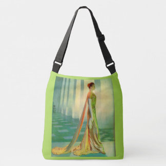 1960s beautiful lady in evening gown crossbody bag