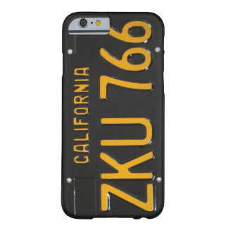 1960's CA License Plate iPhone 6 case Barely There iPhone 6 Case